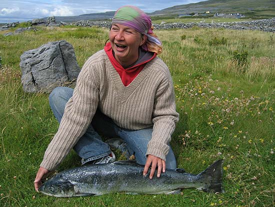 Verena with Salmon